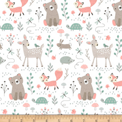Woodland Animals - INSTOCK Baby Minky Blanket