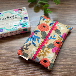 Rosa Blush - Dry Travel Sized Tissue Pack Pouch Holder