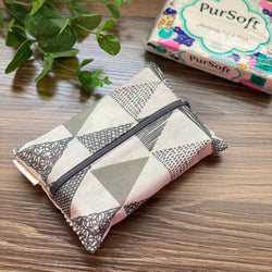 Trio Grey - Dry Travel Sized Tissue Pack Pouch Holder