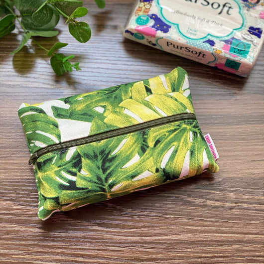 Monstera - Dry Travel Sized Tissue Pack Pouch Holder