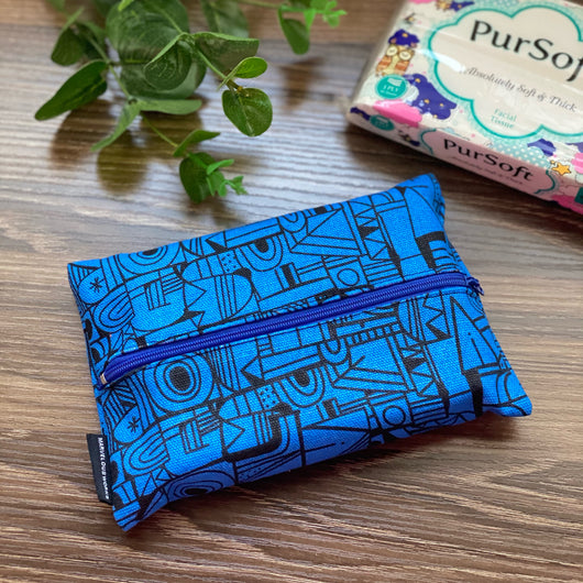 Architecture Blue - Dry Travel Sized Tissue Pack Pouch Holder