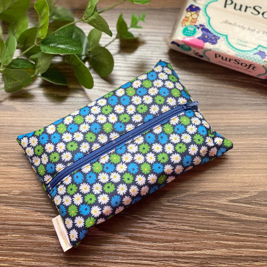 Retro Blooms PVC - Dry Travel Sized Tissue Pack Pouch Holder