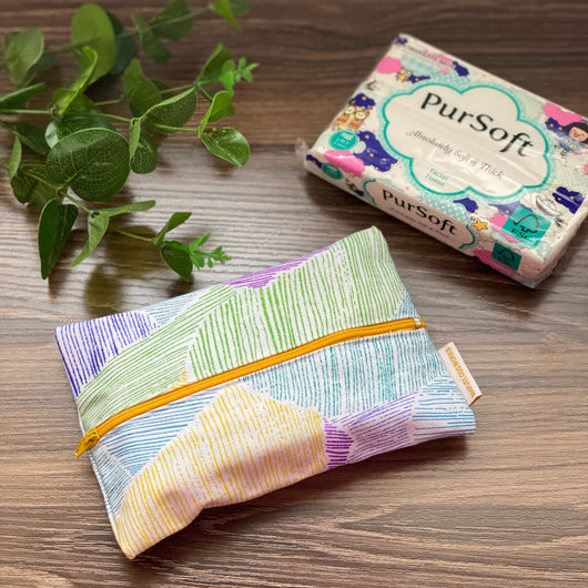 Purple Landscapes - Dry Travel Sized Tissue Pack Pouch Holder