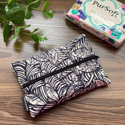 Abstract Leaves  - Dry Travel Sized Tissue Pack Pouch Holder