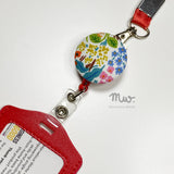 """Meadows"" Retractable Badge Reel ID Card Holder"