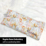 "Beansprout Husk Pillow ""Garden Bouquets Cream"""