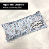 "Beansprout Husk Pillow ""Soda Bottles Blue"""