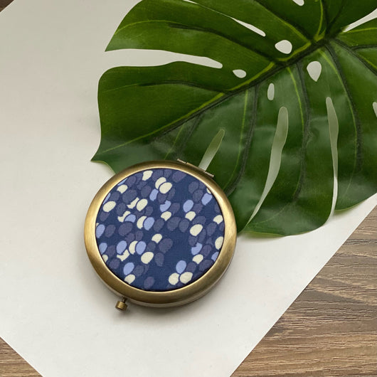 Shades of Blue (Bronze) - Compact Pocket Mirror