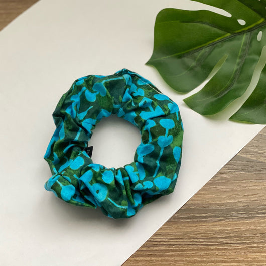Time Flower Blue - Hair Tie Scrunchie