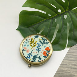 Wildwood Metallic Mint (Bronze) - Compact Pocket Mirror