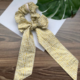 Metallic Gold Hatch - Bandana Scarf Scrunchie