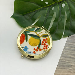 Wildwood Garden Party Natural (Gold) - Compact Pocket Mirror