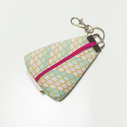 """Mermaid Pastel Scales"" Meraki Coin Pouch"