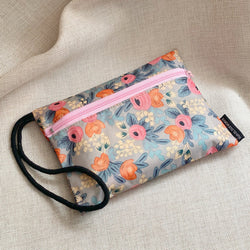 Rosa Grey  - Essentials Wristlet Pouch
