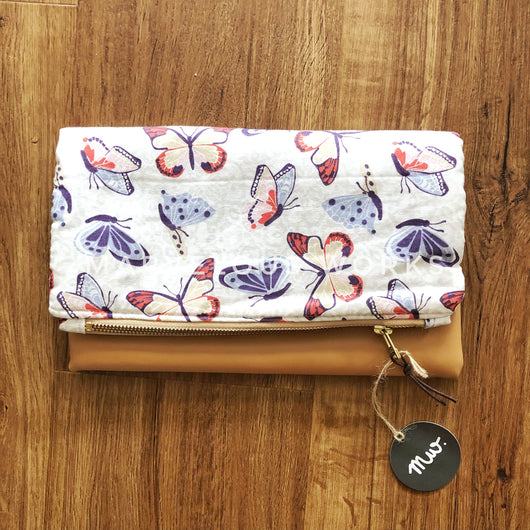 """Madame Butterfly"" Foldover Clutch"