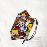 """Star Wars Chibi Light"" Adult XL - Boat Reusable Cotton Fabric Face Mask Sleeve Insert"