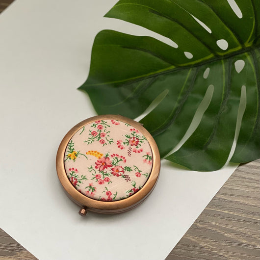 Sweet Blooms (Rose)- Compact Pocket Mirror