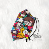"Boat Reusable Cotton Fabric Face Mask Sleeve Insert ""Potterheads"""