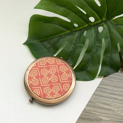Aztec Coral (Rose) - Compact Pocket Mirror