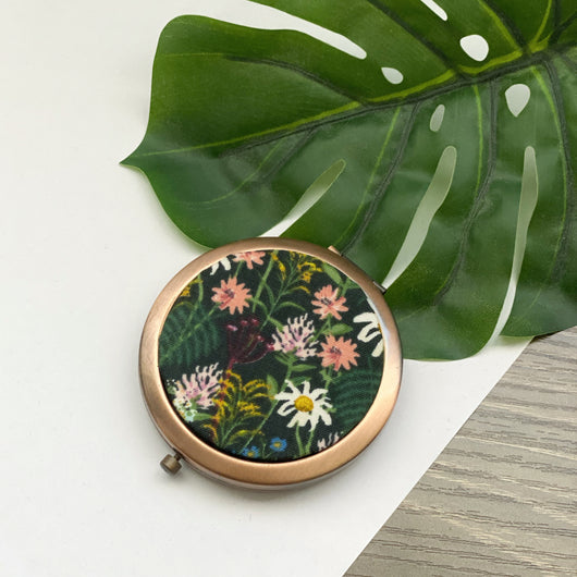 Wildflowers Hunter (Rose) - Compact Pocket Mirror
