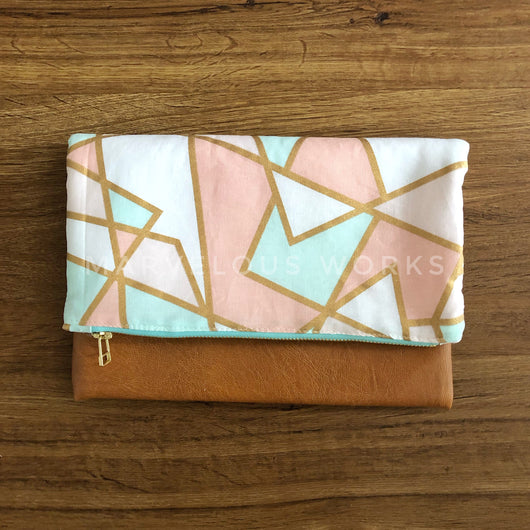 """Rose Glass"" Foldover Clutch"