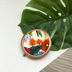 Wildwood Garden Party Natural (Rose) - Compact Pocket Mirror