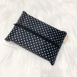 Polka Dots PVC - Dry Travel Sized Tissue Pack Pouch Holder