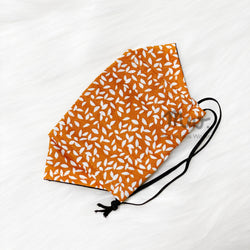 """Autumn Leaves"" Adult XL - Boat Reusable Cotton Fabric Face Mask Sleeve Insert"