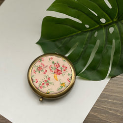 Sweet Blooms (Bronze) - Compact Pocket Mirror