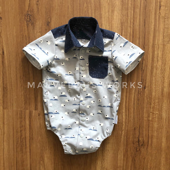 CUSTOM Baby Boy Romper