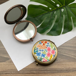 English Garden Meadows (Bronze) - Compact Pocket Mirror