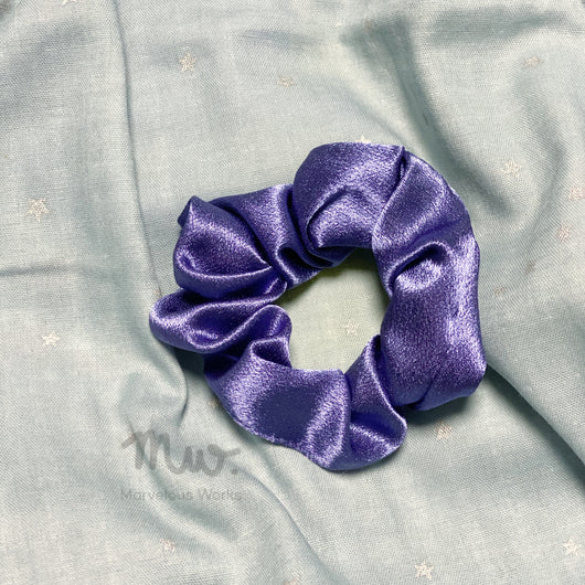 Midnight - Satin Hair Tie Scrunchie