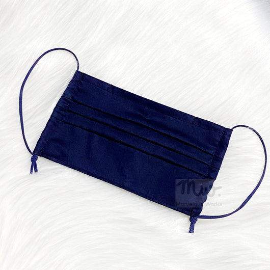 "Pleated Reusable Cotton Fabric Face Mask Sleeve Insert ""Nautical"""