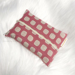 Block Pink Print - Dry Travel Sized Tissue Pack Pouch Holder