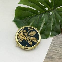 Metallic Gold English Garden (Gold) - Compact Pocket Mirror