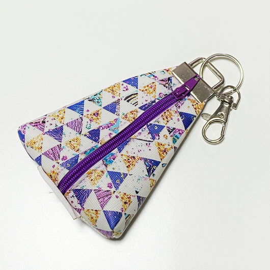 """Purple Trig"" Meraki Coin Pouch"