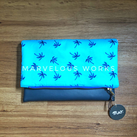 """Tropical Breeze"" Foldover Clutch"