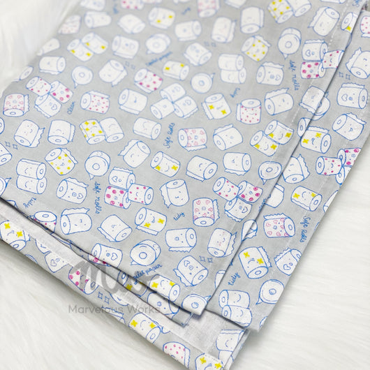 Toilet Roll Grey - Swaddle Blanket
