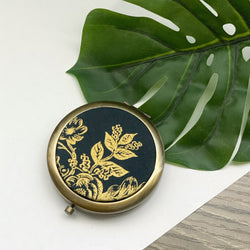 Metallic Gold English Garden (Bronze) - Compact Pocket Mirror