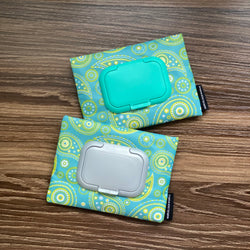 Paisley Teal - Wet and Dry Tissue Pouch (SMALL)