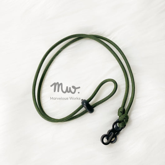 Army Green - Neck Straps Extenders for Reusable and Disposable Masks