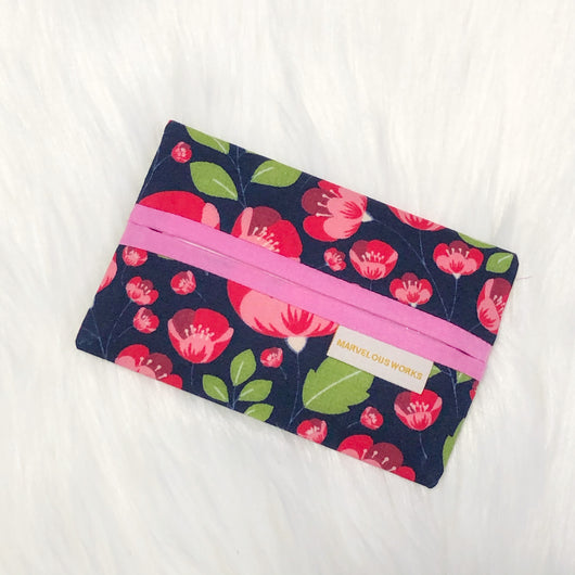 Red Floral - Minimalist Tissue Pouch