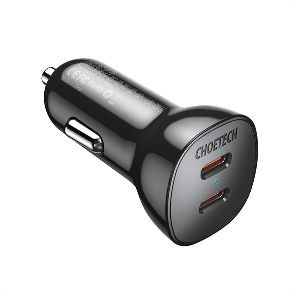 TC0008 Choetech 36W Dual Fast USB C Car Charger 18W Type C PD3.0 for iPhone 12 CHOETECH