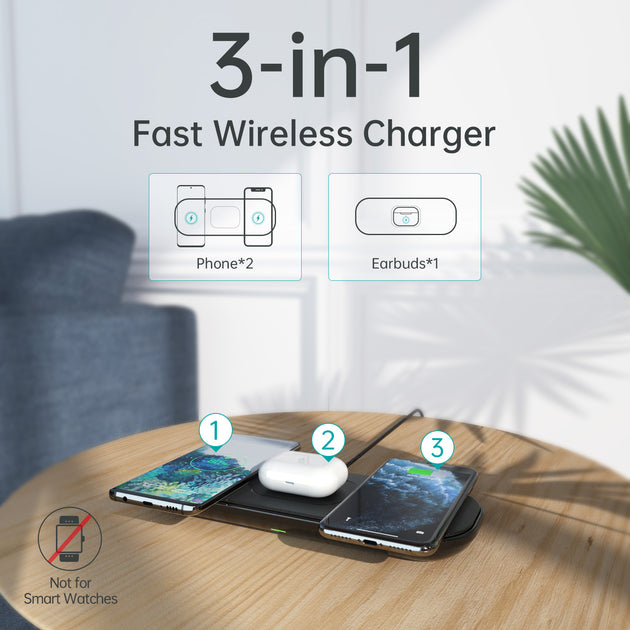 [Latest 2020] CHOETECH Magsafe Wireless Charger, 15W Fast Wireless Charging Pad with PD 3.0 Adapter Compatible with iPhone 12/12 mini/12 Pro/12 Pro Max/11/11 Pro/11 Pro Max, Galaxy S20/S10, Airpods and More CHOETECH