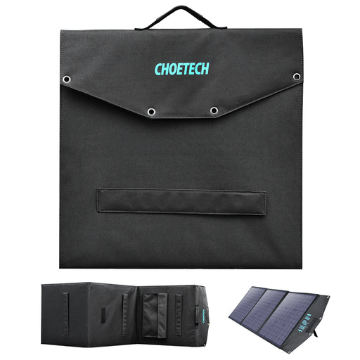 Choetech 120W Foldable Solar Charger with Kickstands 18V DC+60W PD Type C CHOETECH