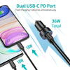 C0054 CHOETECH 36W 2-Port PD18W All Metal Fast Car Charger for iPhone 12/12 Pro Max/12 Mini CHOETECH