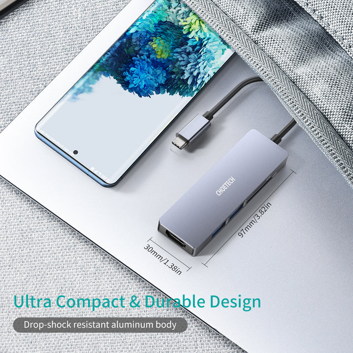 HUB-M18 USB Type C Hub 5 in 1 Multiport Adapter
