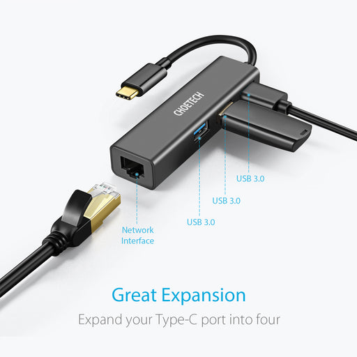 CHOETECH USB C Ethernet HUB, LAN Network Adapter CHOETECH OFFICIAL
