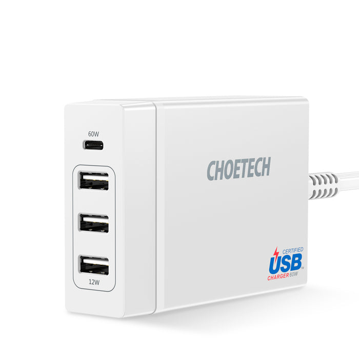 PD72 Power Delivery Charger Multi USB Charging CHOETECH