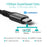 CHOETECH 100W USB Type C Braided Fast Charging Cable (20V 5A 6ft) Compatible with Galaxy Note10/Note10 Plus, MacBook Pro 2019 2018 2017, Retina MacBook Air, iPad Pro 2018 CHOETECH